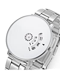 BigMall Turnable Analogue White Dial Men's Watch (white)