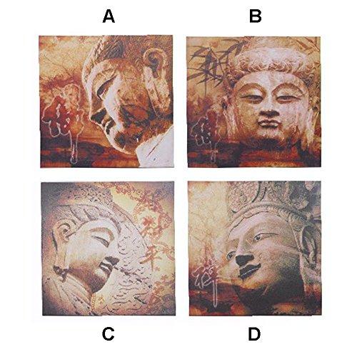 Cuadro Buda. Cuatro modelos. (40 x 40 x 2 cm) – B