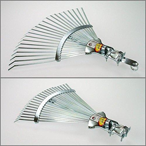 Polar 2526 Profi-Laubbesen Fächerbesen 30-47 cm breit Rasenrechen Federbandstahl - 2