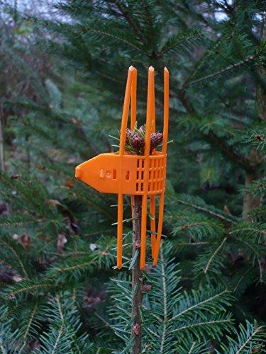 100 Stk. Verbissschutz-Manschetten in Orange * zuverlässig gegen Wildverbiss * Neu