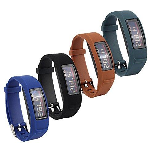 Fit-Power Ersatz-Armband mit Schnalle für Garmin Vivofit 2 (ohne Tracker), 4ColorsB