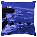 HLKPE Point Bonita Lighthouse California Marin County Majestic Beacon of Light - Throw Pillow Cover Case (18
