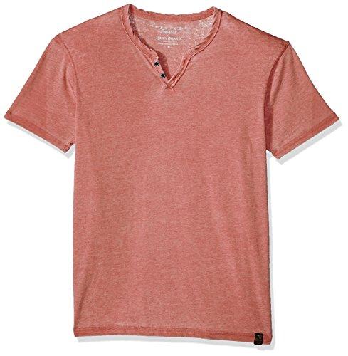 Lucky Brand Herren Venice Burnout Notch Neck Tee T-Shirt, Cowhide, XX-Large -