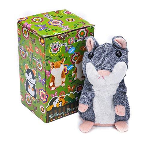 ster Plüschtiere Wiederholt, Was Sie Sagen, Elektronische Niedlichen Haustier Tier Spielzeug Für Kinder Kinder Geschenk, 3 X 5,9 Zoll (Grau) - Samtlan (Es Sagen Game)