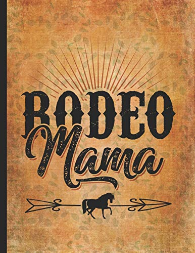 Horse Riding Lover: Vintage Rodeo Mama Cowgirl On A Farm Draw and Write Journal for Kids 8.5x11 Little cowgirl will love this gift. Horseback riding girl boy woman - Vintage Rodeo