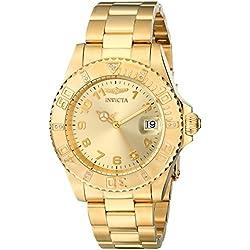 Invicta 15249 Pro Diver Reloj para Mujer acero inoxidable Cuarzo Esfera oro