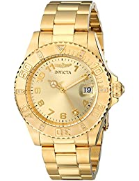 Invicta Analog Gold Dial Women's Watch - 15249