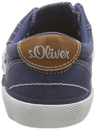 s.Oliver Unisex-Kinder 43203 Low-Top Blau (NAVY COMB. 891)