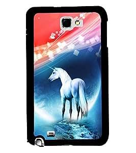 PRINTVISA Premium Metallic Insert Back Case Cover for Samsung Galaxy Note 1 - N7000 - D5675