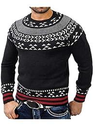 98f508b12a7e Cypapa® Mens Strickpullover Rollkragenpullover Herbst Winter Solid Ripped  Loch Pullover Gestrickter Hoodie…