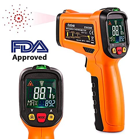 Infrared Thermometer,ES6530B Non-Contact Digital Laser IR Temperature Gun for Kitchen