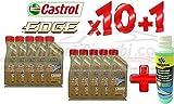 10l Motoröl Castrol Edge FST LongLife III 5W30–in Kanistern zu je 1 l + 1x Bardahl Windschutzscheiben-Reinigungskonzentrat, flüssiger Scheibenreiniger, Frostschutz-Konzentrat -20°C bis 70°C, reinigt und entfettet, 250ml