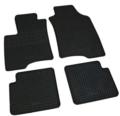 Preisvergleich Produktbild Gummi Fußmatten Set, 4teilig, Gummifußmatten Gummimatten Matten