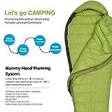 Mountaintop Schlafsack Daunenschlafsäcke Mumienschlafsack für Camping, Wandern, Outdooraktivitäten, 3/4 Jahreszeiten - 2