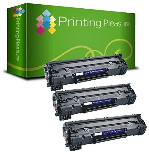 PRINTING PLEASURE 3 Toner kompatibel für HP Laserjet Pro MFP M225 / M125 / M126 / M127 / M128 / M201 / M202 Serie / CF283A / 83A Schwarz / Black (Farbe-jet Serie Drucker)
