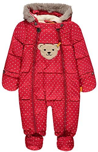 Steiff Baby-Mädchen Schneeanzug Schneeoverall, Rot (y/d Stripe Multicolored 0001), 74