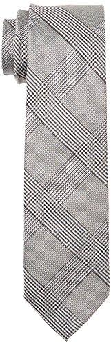 Calvin Klein Herren Krawatte Slim 6.4 cm, Mehrfarbig (Black 001), One size