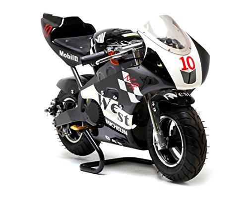 FunBikes MT4A 50cc 46 cm Mini Moto Rennbike 3 Farbschemas (schwarz WE)