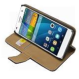 Membrane - Nero Portafoglio Custodia per Huawei Ascend G7 (G7-L01, G7-L03) - Wallet Flip Case Cover + 2 Pellicola Protettiva