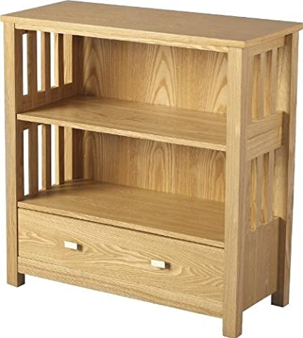 Ashmore 1 Drawer Bookcase (Low) in Ash Veneer by Direct Place