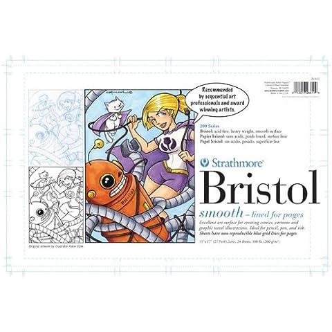 Strathmore ST26-611 27,94 cm x 43,18 cm 200 200200 Series sequenziale Art Bristol carta - 24 fogli