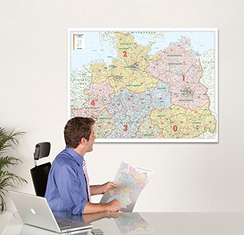 Bacher Postleit-Karte Deutschland, Posterkarte, Nord
