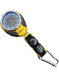 firstwish 4en 1Funciones Mini Digital altímetro brújula termómetro barómetro equipo con mosquetón