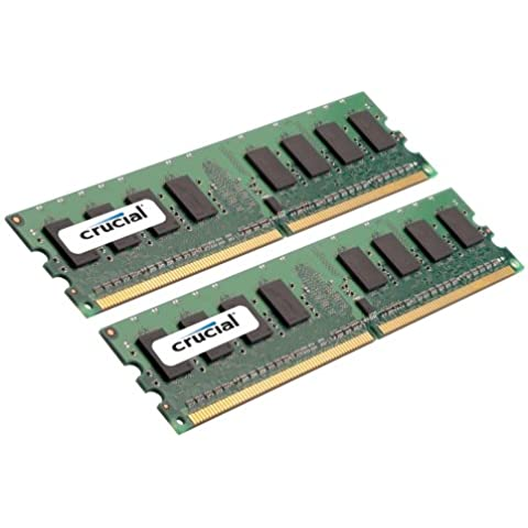 LEXAR Crucial DESKTOP 2GB kit (1GBx2) DDR2 667MHz (PC2-5300) CL5