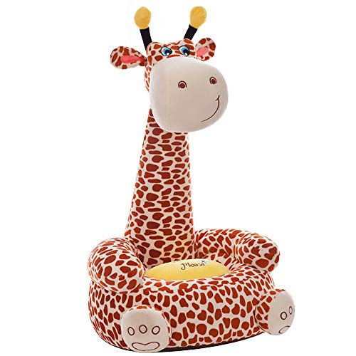 OAMORE Kinder Sessel Plüsch Sofa Sitz Kinderstuhl Komfort Tier Sofa Sitz (Giraffe)