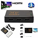 VOSO 3D 1080p 5 Port 4K HDMI Switch Switcher Selector Splitter Hub iR Remote For HDTV