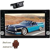 Quad Core 6.2 pollici 800 * 480 touchscreen capacitivo doppio 2Din Unit¨¤ UNIVERSALE Car DVD Player Android4.4 capo di navigazione GPS / Radio FM / AM / Bluetooth / subwoofer / EQ / 1080P display / AUX / 3G / Wi-Fi / OBD2 / controllo del volante + Free Camera inversione - Quad Capo