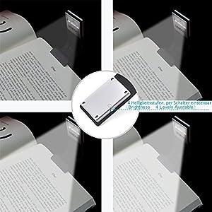Lampada da Lettura, LENDOO Luce da Lettura, Luce da scrivania, Portatile con Pinza, 3 Colore Modalità e Luminosità… 15 spesavip