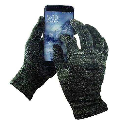Guantes táctiles de GliderGloves paratodas las superficies, funciona con iPhone, Android, iPad y tablets.Palma antideslizante para conducción y agarre del teléfono, negro