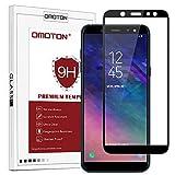 OMOTON Panzerglas Schutzfolie für Samsung Galaxy A6 2018 (5,6 Zoll), volle Bedeckung, Anti- Kratzer, Bläschenfrei, 9H Härte, HD-Klar, [2,5 D Runde Kante] -Schwarz