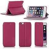 Etui luxe iPhone 6S 4.7 16/32/64 Go (Wifi/3G/4G/LTE) Ultra Slim rose Cuir Style avec stand - Housse coque de protection pour Apple iPhone 6S 4,7 pouces pink - Prix découverte accessoires pochette XEPTIO : Exceptional case !