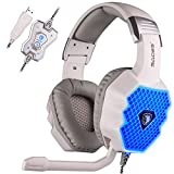 SADES A70 7.1 Surround Sound Stereo PC Gaming Headset Stirnband Kopfhörer Gaming mit HiFi Mikrofon USB Stecker Steuerung Fern Cool Breathing LED Lichter