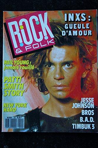 ROCK & FOLK 255 INXS NEIL YOUNG Patti SMITH Jesse Johnson Bros B.A.D. Timbuk 3