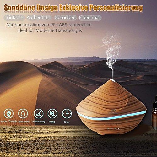 Diffuser, Aroma Diffuser infinitoo 500ML Sanddüne Design Diffusor | Raumbefeuchter Ultraschall mit 7 LED Farbwechsel für Wohnzimmer, Kinderzimmer, Schlafzimmer, Baby, SPA, Büro