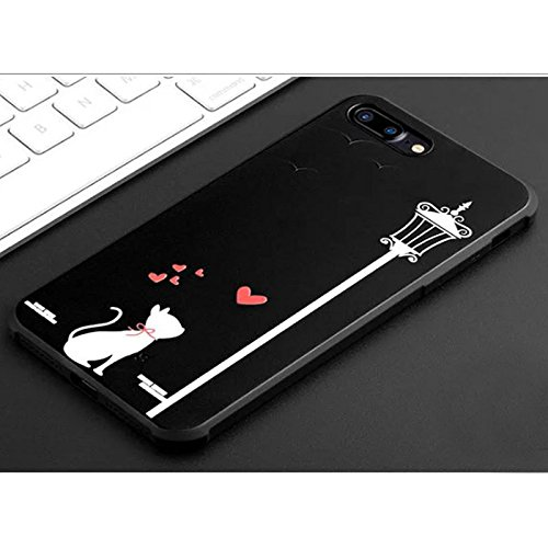 Iphone 7Plus case,Koala Group painted cartoon/silicone anti-drop airbag Apple phone case cover for Iphone 7Plus (Skull) Love cat