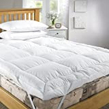 Soft Duck Feather and Down Bed Thick Mattress Topper Kingsize by Viceroybedding