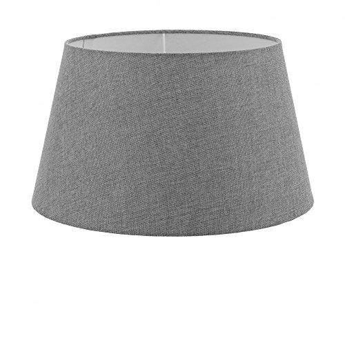 EGLO Lampenschirm 1+1 Vintage, Ø 40 cm, Leinen, E27, grau Grau | 49655