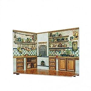CLEVER PAPER- Puzzles 3D Cocina de casa de muñecas, Serie Rumboksy (142914)