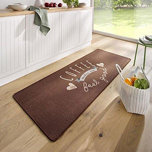 Hanse Home 102620 Teppichläufer, Polyamid, braun, 67 x 180 x 0.8 cm