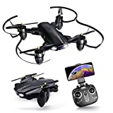 Drone with Camera,KUORLE Foldable Arms RC Helicopter with HD Live Video Wifi Camera