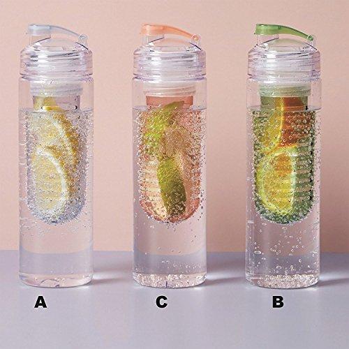 Unbekannt Wasserflasche Day Trinkflasche BPA und PHLALAT FREI Flaschenvolumen 700 ml Sportflasche mit Infuser und Verschluss (B : Jade GRÜN)