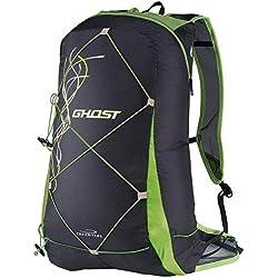 Camp Ghost - 15 liter mochila para senderismo y bicicleta Ciudad Negro - Green