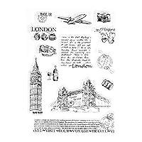 guanjunLI Tower of London Sheet of Clear Stamps -DIY Scrapbooking, Planner, Card Making, journaling