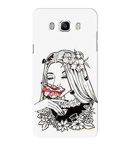 EPICCASE Cute flower girl Mobile Back Case Cover For Samsung J5 2016 (Designer Case)