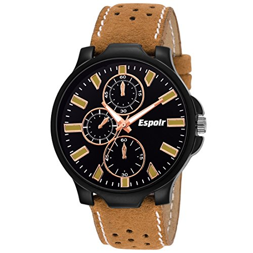 Espoir Analogue Black Dial Day and Date Men\'s Watch - Dean0507