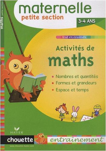 Activités de maths Petite Section : 3/4 Ans